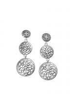 Ferrara Medallion Statement Post Earrings