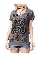 Dolman Short Sleeve Top with Laser Cut Back