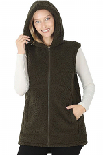 Soft Sherpa Hooded Vest