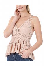 Crochet Lace Peplum Cami