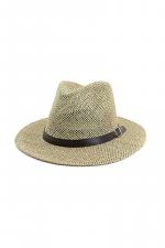 Black Belt Straw Panama Hat