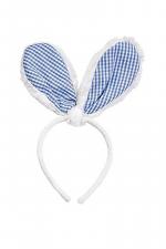 Blue Gingham Bunny Ears