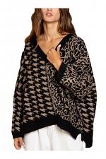Deep V Plunge Oversized Sweater