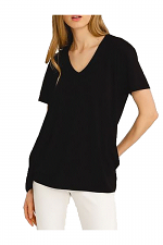 Short Sleeve Bamboo Cutout Back T-Shirt
