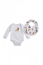 French Bulldog Baby Bodysuit & Bib Set