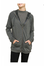 Elbow Open Sleeve Fleece Jacket
