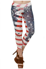 Flag Leggings With Stone