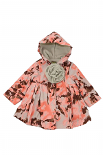 Girls Button Up Hooded Floral Jacket