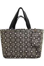 Jacquard Tote With Matching Clutch