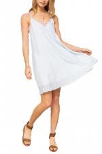 Built-In Two-Tone Lace Bralette Stripe 2-Fer Dress