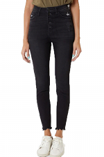 High Rise Super Skinny Jean with Button Front