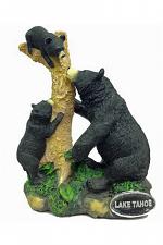 Lake Tahoe Bear Family Resin Statue