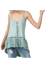 Cami Top With Crochet Detail