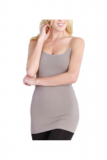 Long Camisole In Cool Gray