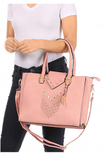Large Tote with Handles & Crossbody Strap