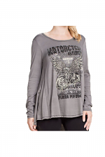 Long Sleeve Motorcycle Rider in Gray