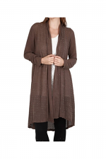 Studded Long Cardi in Brown