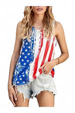 Stripes Star American Flag Print Tank Top