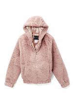 Girls Hooded Faux Fur Jacket