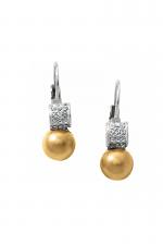 Meridian Pearl Leverback Earrings