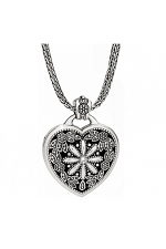 Floral Heart Locket Necklace
