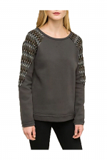 Contrast Shoulder Detail Sweatshirt