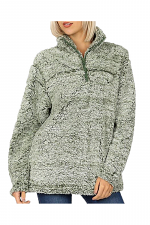 Sherpa Half Zip Pullover