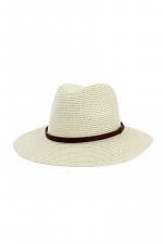 Brown Line Point Panama Hat