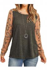 Fleece Lined Leopard Long Sleeve Top