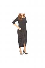 Long Sleeve Swag Dress in Black