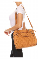 Large Tote with Woven Detail