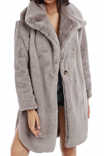 Vintage Mood Fur Jacket in Grey