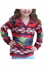 Girls Aztec Printed Sweatshirt