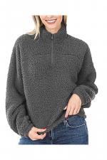 Soft Sherpa Drawstring Pullover