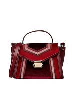 Whitney Medium Velvet Satchel