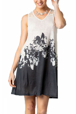 Floral Sublimation Dress with Stones