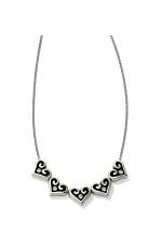 Alcazar Hearts Slider Necklace