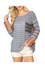 Striped Colorblock Sweater Top