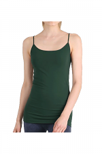 Long Camisole in Pine Green