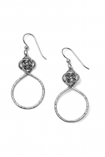 Interlok Petite Knot Circle French Wire Earrings