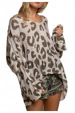 Animal Print Lightweight Hooded Top