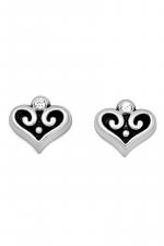 Alcazar Heart Mini Post Earrings