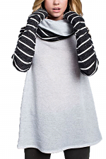 Cowl Neck Long Sleeve Top
