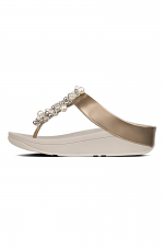 Deco Pearlised Patent Toe-Thongs