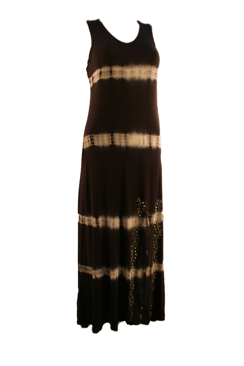 Maxi Dress with Tie Dye and Stones