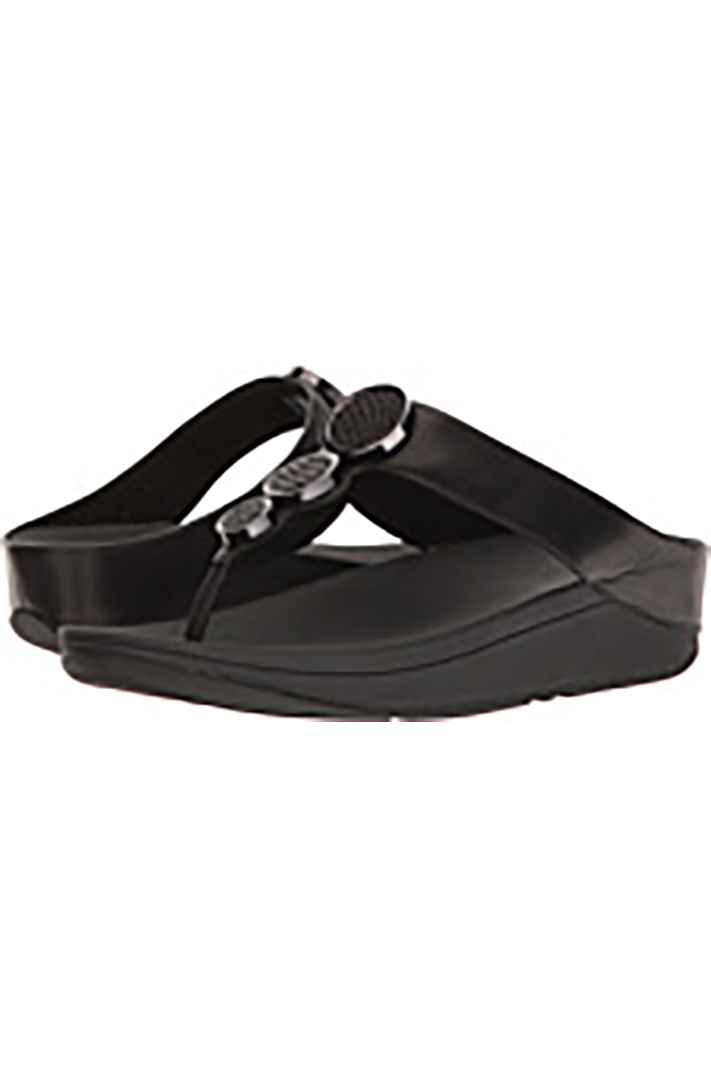 Halo Toe Thong Sandal in Black