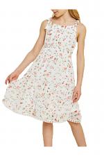 Girls Floral Babydoll Bow-Strap Dress