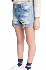 Girls Distressed Denim Shorts