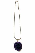 Silver Necklace with Amethyst Pendant