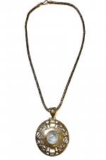 Antique Silver & Moonstone Necklace